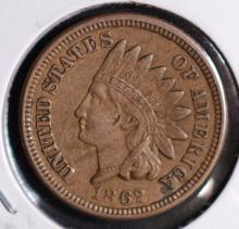 1862 Indian Head Cent - AU