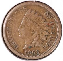 1863 Indian Head Cent - VF