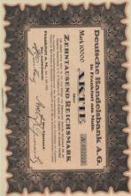 1923 German 10000 Mark Bond w/Coupons
