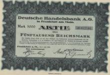 1923 German 5000 Mark Bond w/Coupons