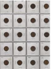 1910-1931 (n/c) Lincoln Cent Lot - (20 Coins)