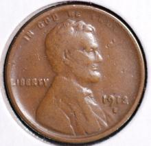 1913-S Lincoln Cent - F