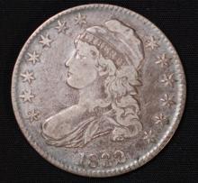 1832 Capped Bust Half Dollar- F