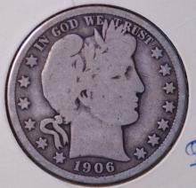 1906-D Barber Half Dollar- G