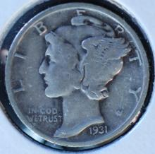 1931 Mercury Dime - F