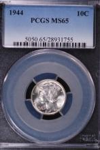 1944 Mercury Silver Dime - PCGS MS65