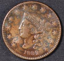 1832 Coronet Large Cent - XF