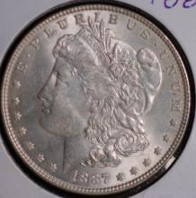 1887 Morgan Silver Dollar - AU