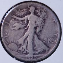 1920-S Walking Liberty Half Dollar- F