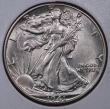 1941-D Walking Liberty Half Dollar - BU