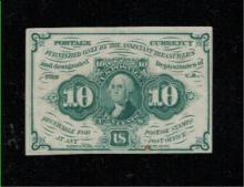 1862 10c Postage Currency Note - AU
