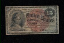 1863 15c 4th Issue Fractional Note - G
