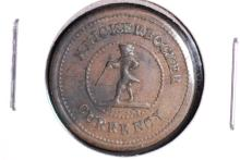 Patriotic Civil War Era token - Knickerbocker