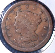 1848 Braided Hair Large Cent - G Details