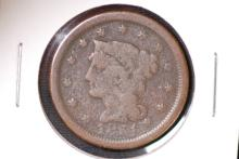 1851 Braided Hair Large Cent - F