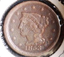 1853 Braided Hair Large Cent - G Details