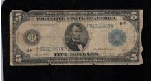 1914 $5 Federal Reserve Note - G