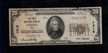 1929 $20 1st Natl Bank of Forest, Ohio Note