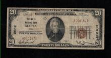 1929 (ty1) $20 Nat'l Currency Note - Malta, OH