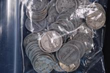 Roll of Circulated Mercury Silver Dimes -$5 Face