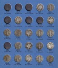 1917-1945D (n/c) Mercury Dime Lot