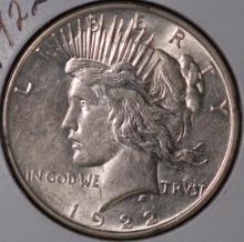 1922 Peace Silver Dollar - AU