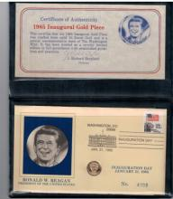 1985 Reagan Inaugural 10kt Gold Mini Coin