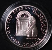 1992-W White House Commem Silver Dollar- Proof