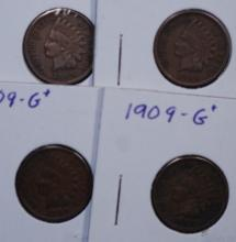 1909 Indian Head Cent Lot