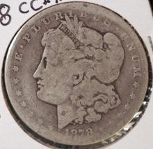 1878-CC Morgan Silver Dollar- AG