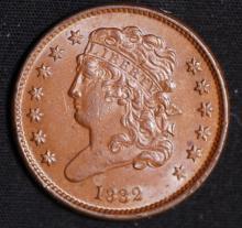 1832 Classic Half Cent - AU