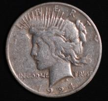 1924-S Peace Silver Dollar - G Details