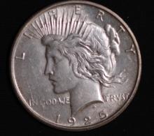1925-S Peace Silver Dollar- AU