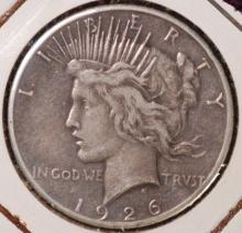 1926-S Peace Silver Dollar- VG