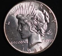 1928 Peace Silver Dollar - UNC
