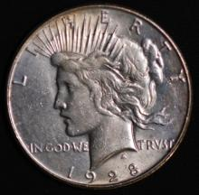 1928-S Peace Silver Dollar- XF