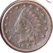 1863 Patriotic Civil War Token - VF
