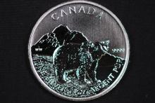 2011 Canada $5 Silver Grizzly Bear