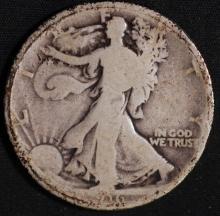 1916 Walking Liberty Half Dollar - AG