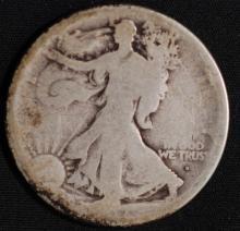 1917-D (obv) Walking Liberty Half Dollar- AG