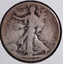 1920 Walking Liberty Half Dollar- G