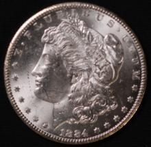 1884-CC Morgan Silver Dollar- UNC