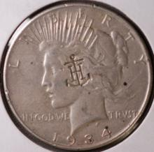 1934 Peace Silver Dollar - VF