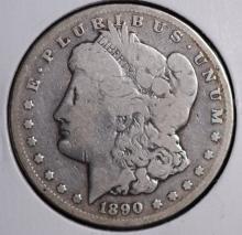 1890-CC Morgan Silver Dollar- VG