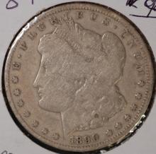 1890-CC Morgan Silver Dollar- G Details