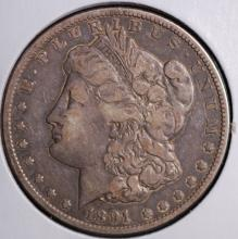 1891-CC Morgan Silver Dollar- VF