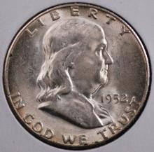 1952-S Franklin Half Dollar- Gem BU
