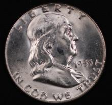 1955 Franklin Half Dollar - UNC