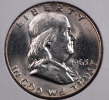 1963 Franklin Half Dollar- Gem BU