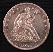 1844 Seated Liberty Half Dollar- AU